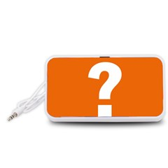 Question Mark Portable Speaker (White)  by AnjaniArt