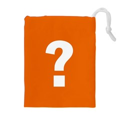 Question Mark Drawstring Pouches (extra Large)