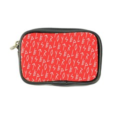 Red Alphabet Coin Purse by AnjaniArt
