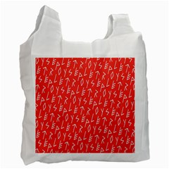Red Alphabet Recycle Bag (one Side) by AnjaniArt