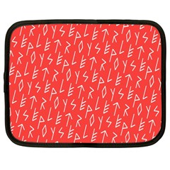 Red Alphabet Netbook Case (xxl)