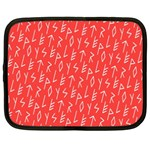 Red Alphabet Netbook Case (XXL)  Front