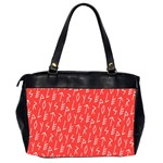 Red Alphabet Office Handbags (2 Sides)  Back