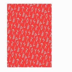 Red Alphabet Large Garden Flag (two Sides) by AnjaniArt