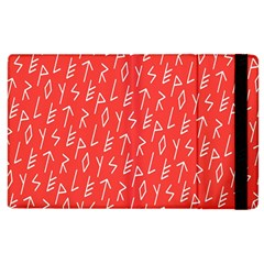Red Alphabet Apple Ipad 2 Flip Case by AnjaniArt
