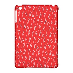 Red Alphabet Apple Ipad Mini Hardshell Case (compatible With Smart Cover) by AnjaniArt