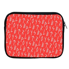 Red Alphabet Apple Ipad 2/3/4 Zipper Cases by AnjaniArt