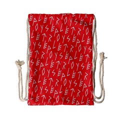Red Alphabet Drawstring Bag (small) by AnjaniArt