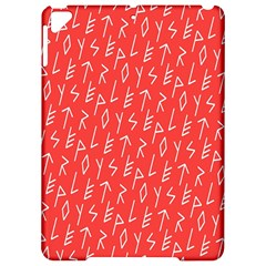 Red Alphabet Apple Ipad Pro 9 7   Hardshell Case by AnjaniArt