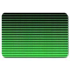 Neon Green And Black Halftone Copy Large Doormat