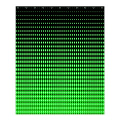 Neon Green And Black Halftone Copy Shower Curtain 60  X 72  (medium)