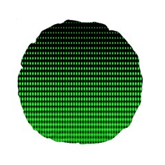Neon Green And Black Halftone Copy Standard 15  Premium Round Cushions by AnjaniArt