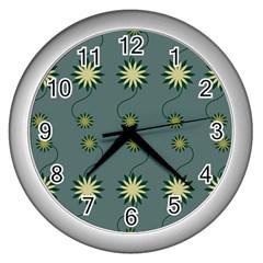 Repeat Wall Clocks (silver)  by AnjaniArt