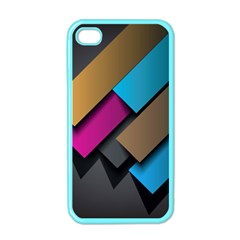 Shapes Box Brown Pink Blue Apple Iphone 4 Case (color) by AnjaniArt