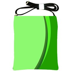 Simple Green Shoulder Sling Bags by AnjaniArt