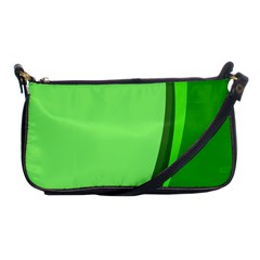 Simple Green Shoulder Clutch Bags by AnjaniArt