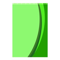 Simple Green Shower Curtain 48  X 72  (small)  by AnjaniArt