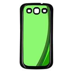 Simple Green Samsung Galaxy S3 Back Case (black) by AnjaniArt