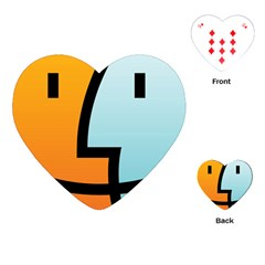 Two Fafe Orange Blue Playing Cards (Heart)  by AnjaniArt