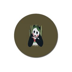 Simple Joker Panda Bears Magnet 3  (round)