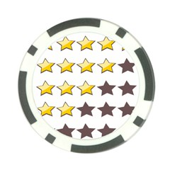 Star Rating Copy Poker Chip Card Guards