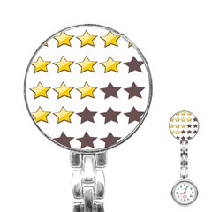 Star Rating Copy Stainless Steel Nurses Watch by AnjaniArt