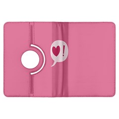 Valentines Pink Day Copy Kindle Fire HDX Flip 360 Case by AnjaniArt