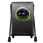 TEE IT UP GOLF WORLD PEN HOLDER DESK CLOCK (BLACK)