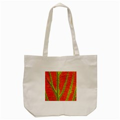 Unique Leaf Tote Bag (cream) by AnjaniArt