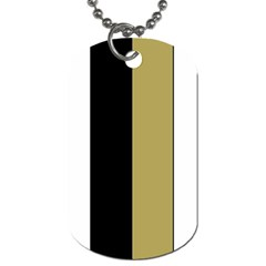 Black Brown Gold White Stripes Elegant Festive Stripe Pattern Dog Tag (two Sides)