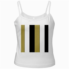 Black Brown Gold White Stripes Elegant Festive Stripe Pattern Ladies Camisoles by yoursparklingshop