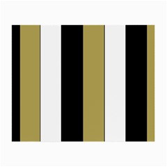 Black Brown Gold White Stripes Elegant Festive Stripe Pattern Small Glasses Cloth by yoursparklingshop