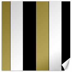 Black Brown Gold White Stripes Elegant Festive Stripe Pattern Canvas 12  X 12   by yoursparklingshop