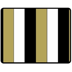 Black Brown Gold White Stripes Elegant Festive Stripe Pattern Fleece Blanket (medium)  by yoursparklingshop