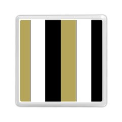 Black Brown Gold White Stripes Elegant Festive Stripe Pattern Memory Card Reader (square)  by yoursparklingshop
