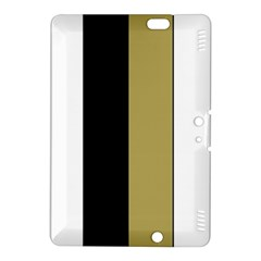 Black Brown Gold White Stripes Elegant Festive Stripe Pattern Kindle Fire Hdx 8 9  Hardshell Case by yoursparklingshop