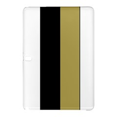 Black Brown Gold White Stripes Elegant Festive Stripe Pattern Samsung Galaxy Tab Pro 10 1 Hardshell Case by yoursparklingshop