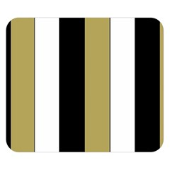 Black Brown Gold White Stripes Elegant Festive Stripe Pattern Double Sided Flano Blanket (Small)  by yoursparklingshop