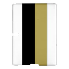 Black Brown Gold White Stripes Elegant Festive Stripe Pattern Samsung Galaxy Tab S (10 5 ) Hardshell Case  by yoursparklingshop