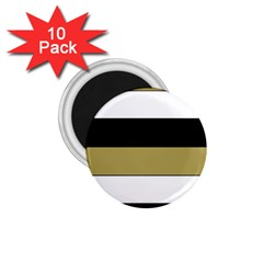 Black Brown Gold White Horizontal Stripes Elegant 8000 Sv Festive Stripe 1 75  Magnets (10 Pack)  by yoursparklingshop