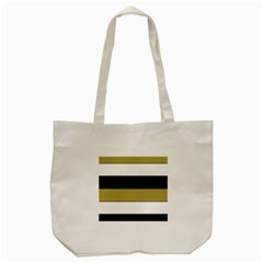 Black Brown Gold White Horizontal Stripes Elegant 8000 Sv Festive Stripe Tote Bag (cream) by yoursparklingshop