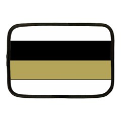 Black Brown Gold White Horizontal Stripes Elegant 8000 Sv Festive Stripe Netbook Case (medium)  by yoursparklingshop