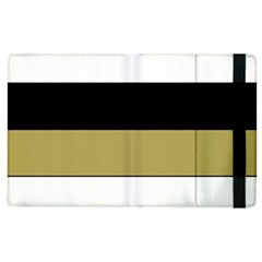 Black Brown Gold White Horizontal Stripes Elegant 8000 Sv Festive Stripe Apple Ipad 3/4 Flip Case by yoursparklingshop