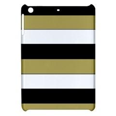 Black Brown Gold White Horizontal Stripes Elegant 8000 Sv Festive Stripe Apple Ipad Mini Hardshell Case by yoursparklingshop