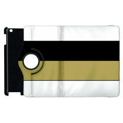 Black Brown Gold White Horizontal Stripes Elegant 8000 Sv Festive Stripe Apple Ipad 2 Flip 360 Case by yoursparklingshop