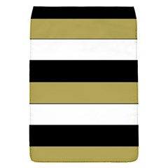 Black Brown Gold White Horizontal Stripes Elegant 8000 Sv Festive Stripe Flap Covers (s)  by yoursparklingshop
