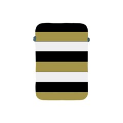 Black Brown Gold White Horizontal Stripes Elegant 8000 Sv Festive Stripe Apple Ipad Mini Protective Soft Cases by yoursparklingshop
