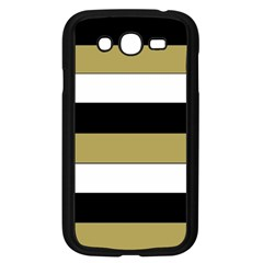 Black Brown Gold White Horizontal Stripes Elegant 8000 Sv Festive Stripe Samsung Galaxy Grand Duos I9082 Case (black) by yoursparklingshop