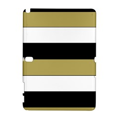 Black Brown Gold White Horizontal Stripes Elegant 8000 Sv Festive Stripe Galaxy Note 1 by yoursparklingshop