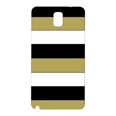 Black Brown Gold White Horizontal Stripes Elegant 8000 Sv Festive Stripe Samsung Galaxy Note 3 N9005 Hardshell Back Case by yoursparklingshop